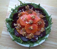 Rocket and Roses Vegan Kitchen: Beetroot, Blood Orange, Walnut & Rocket Salad