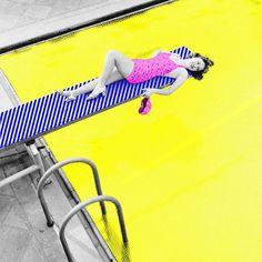 — neon pool  by mnmlistix (insta)