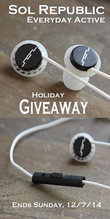 Sol Republic Relay Giveaway - Liv Life   Earbuds that stay where they should and also bring big sound!   Want a set? Enter by Dec. 7th! (and we've got a bonus Peanut Butter Krispie Treat recipe for you too!)