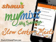 Recipes: Slow Cooker Meals with the Shaw's #MyMixx App - @stuckathomemom