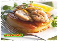 Ris d'agneau sur Tatin d'endive à l'orange. POUR 4 PERSONNES. PRÉPARATION 15 MIN. CUISSON 35 MIN. RÉFRIGÉRATION 1 H .  • 4 ris d'agneau • 8 endives • 3 oranges (jus) • 80 g de beurre • 1 jaune d'œuf • 1 rouleau de pâte feuilletée • 25 cl de fond de veau • 2 c. à soupe de miel liquide • sel et poivre