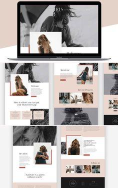 Squarespace Template #webdesign Website Design Inspiration, Website Design Layout, Web Layout, Layout Inspiration, Blog Design, Page Design, Layout Design, Blog Layout, Ui Design