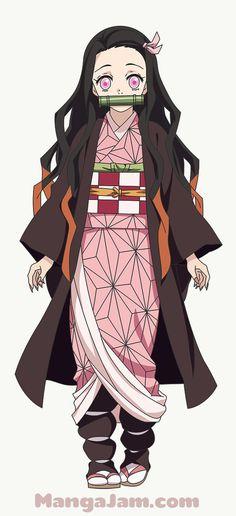 How To Draw Nezuko Kamado from Kimetsu no Yaiba Mega Anime, Chibi Anime, Fanarts Anime, Demon Slayer, Slayer Anime, Otaku Anime, Kawaii Anime Girl, Anime Art Girl, Anime Tattoos