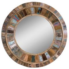 Check out the Uttermost 04017 Jeremiah Round Wood Mirror