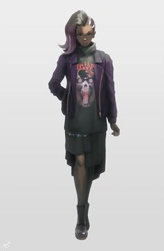 """mynare on Twitter: """"i drew sombra in a casual outfit! i was inspired by the overwatch street fashion series. she is wearing a dress from the brand vetements. https://t.co/A7ZMlfFRF4"""""""