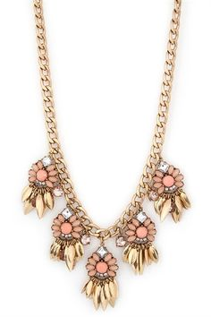 Mystical Marquise Necklace in Peach.  #necklace #laurennicole