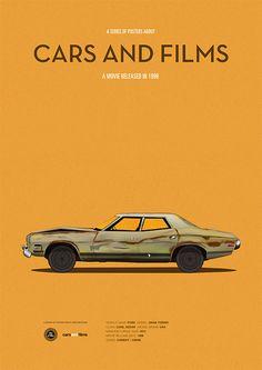 Plakat für den Film the Big Lebowski, Film Poster Auto Autos und Filme Auto Poster, Car Posters, The Big Lebowski Movie, Film Home, Car Illustration, Movie Poster Art, Us Cars, Car Wallpapers, Minimalist Poster
