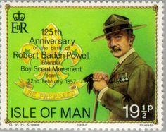 Sello: Scouting (Isla de Man) (75th Anniversary of Scouting) Mi:IM 205,Yt:IM 200,AFA:IM 194