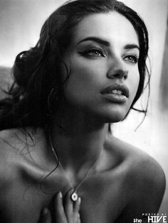 Vogue Gallery Of Supermodel Adriana Lima. Beautiful HQ Black and White Vogue Magazine Gallery of Victoria's Secret Angel Adriana Lima. Girl Face, Woman Face, Charlie Barker, Pretty People, Beautiful People, Beautiful Lips, Gorgeous Girl, Gorgeous Women, Beautiful Things