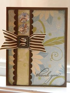 by Jackie Lupien.... using Miracle Paper (retired).... so, so pretty and I love the bling and ribbon...
