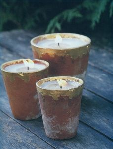 How to Make Terracotta Pot Candles