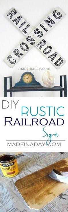 Rustic Railroad Sign