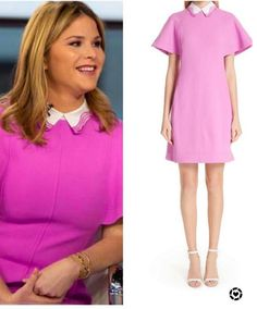 Jenna Bush Hager, Hoda Kotb, Collared Dress, Today Show, Flutter Sleeve, Pink Dress, Collars, Spring, Dresses