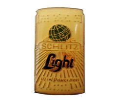 """vintage SCHLITZ LiGHT BEER can enamel pin lapel cloisonne by VintageTrafficUSA  11.00 USD  A vintage Schlitz Light pin! Excellent condition. Measures: approx 1"""" 20 years old hard to find vintage high-quality cloisonne lapel/pin. Beautiful die struck metal pin with colored glass enamel filling. Add inspiration to your handbag tie jacket backpack hat or wall. Have some individuality = some flair! -------------------------------------------- SECOND ITEM SHIPS FREE IN USA!!! LOW SHIPPING OUTSIDE…"""