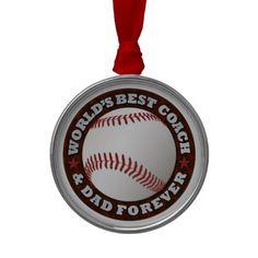 World's Best Coach & Dad 1 Ornament