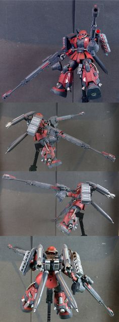 I give you my Zaku II High Mobility Long Range Support Type (AKA: Ship Cracker) My Entry into ZakuAurelius' Custom Zaku Contest. I used a Zaku II High Mobility Type as a base and it is my third ful...