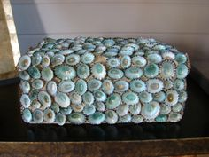 Mecox Gardens - Blue Shell Decorative Box Detail $495