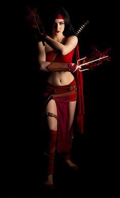 Elektra by Eve Beauregard, photos by Kris. #cosplay