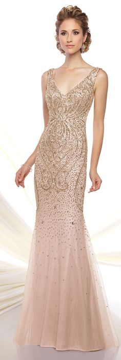Formal Evening Gowns by Mon Cheri - Spring 2016 - Style No. Mother Of Groom Dresses, Mothers Dresses, Elegant Dresses, Pretty Dresses, Mob Dresses, Bride Dresses, Wedding Dresses, Estilo Fashion, Look Chic