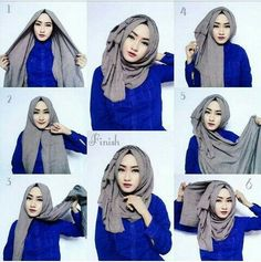hijab style classic hijab tutorial with volume obpquvo Tutorial Hijab Segitiga, Square Hijab Tutorial, Simple Hijab Tutorial, Turkish Hijab Tutorial, Stylish Hijab, Hijab Chic, Islamic Fashion, Muslim Fashion, Abaya Fashion