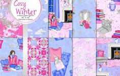 Cosy winter seamless patterns by Gaynor Carradice Designs on @creativemarket