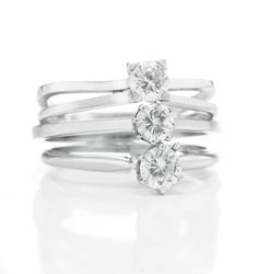 Ping Pong Diamond Rings from the #bvlgari Elizabeth Taylor collection.  www.kristoffjewelers.com