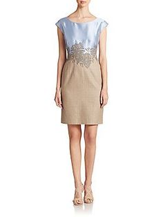 Lafayette 148 New York Josette Silk Lafayette 148 New York Josette Silk & Cotton Dress 0400086959195 Read 1 Reviews|Write a Review Q & A:Ask a Question|See All Questions (1) & Answers (1) Size GuideSize:Fit Predictorcalculate your size 024681012141618 Color:Ice Water Multi Was $698.00 Now $314.10 ADD TO BAG Color/size unavailable? Add to Wait ListAlso available in store Details Sequined embellishment at the waist casts a shape-defining effect on this tailored sheath, in a mixed-media design…