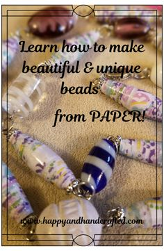 Paper Beads Template, Paper Beads Tutorial, Make Paper Beads, Paper Bead Jewelry, Paper Earrings, How To Make Paper, How To Make Beads, Beaded Jewelry, Jewellery