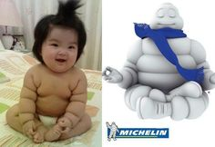 This Baby & The Michelin Man comparison adjectives superlatives comparatives
