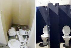 Antes e depois: Vasco conclui reforma de banheiro depredado no clássico #globoesporte