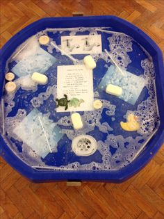 Tiny Tim the turtle tuff spot! Great idea adding laminated story.