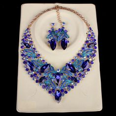 Gold Plated Leaf Flowers Decoration Necklace&Earring