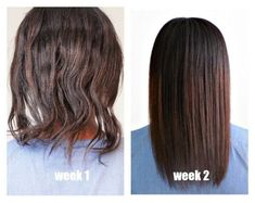 Grow your relaxed hair with this care regimen. #relaxedhair Relaxed Hair Growth, Hair Growth Tips, Natural Hair Growth, Natural Hair Styles, Long Hair Styles, Relaxed Hair Regimen, Ash Brown Hair Color, Brown Hair With Highlights, Brown Hair Balayage