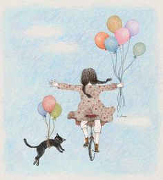 Creator's Playground: Grafolio uploaded by Naty - Katzen Art And Illustration, Illustration Mignonne, Belle And Boo, Art Mignon, Buch Design, Cat Art, Cute Drawings, Illustrators, Anime Art