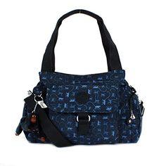 Kipling Felix (Fairfax) Large Shoulder Bag Crossbody Monkey Mania Blue