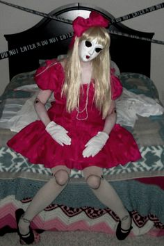 creepy china doll, costume, halloween, diy