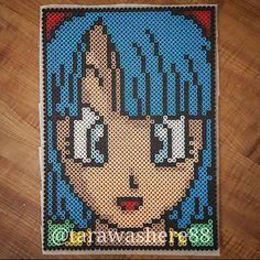 Bulma - Dragon Ball perler beads by tarawashere88