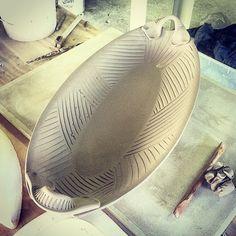 New serving bowl design #hamiltonwilliams #pottery #clay #downtownmorganton #wnc #westernnorthcaroli - hamiltonwilliams