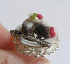 Lava Cake Miniature Food Ring  Miniature Food Jewelry by NeatEats, £11.99