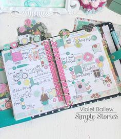 Carpe Diem monthly pages by design team member Violet Ballew