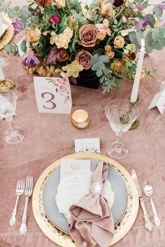 Dusty Rose Plush Velvet Table Linen and Napkin at the Sentenial Hotel Wedding Book, Hotel Wedding, Wedding Vendors, Wedding Events, Cute Alpaca, Painted Hills, Crystal Stemware, Pink Table, Winter Wedding Inspiration