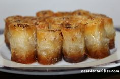 Baklava Yufkasında Kadayıf Sarması / Shredded Wheat Wrapping in Baklava Dough