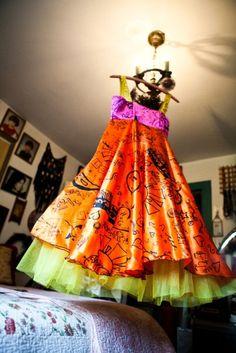 Design-your-own wedding dress (Peach Berserk, Toronto)