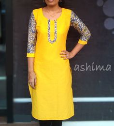 Womens fitted African dress made from cotton fabric with embroidery. Please confirm prices with code Chudidhar Neck Designs, Churidar Designs, Kurta Neck Design, Dress Neck Designs, Salwar Suit Neck Designs, Blouse Designs, Kurti Patterns, Dress Patterns, Indian Designer Outfits