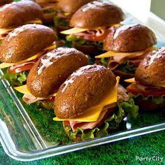 Football themed sandwiches : Part City