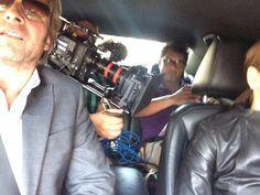 Setselfie van vandaag in de auto met martin(regie) ralph(camera) en angela door luik scheuren