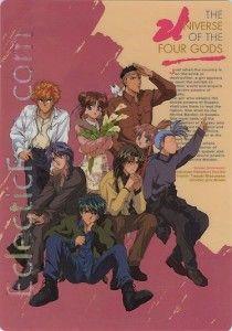 Anime Shitajiki - Fushigi Yuugi - Suzaku Seishi with Miaka - Tamahome, Hotohori, Chichiri, Mitsukake, Nuriko, Tasuki, and Chiriko.