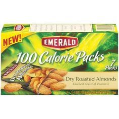 100 Calorie Pack Dry Roasted Almonds, 0.62 Oz Packs