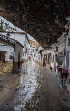 Setenil de las Bodegas is a Landmark in AN. Plan your road trip to Setenil de las Bodegas in AN with Roadtrippers. The Places Youll Go, Places To See, Spanish Towns, Strange Places, Cadiz, Spain And Portugal, Spain Travel, Places To Travel, The Good Place