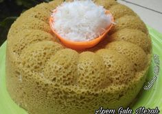 Brown Sugar Apem Cake - food and Delicious Cake Recipes, Yummy Cakes, Dessert Recipes, Roti Canai Recipe, Bolu Cake, Resep Cake, Steamed Cake, Traditional Cakes, Traditional Ideas
